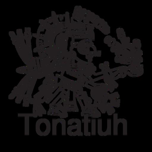 Dios azteca tonatiuh Transparent PNG