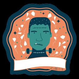 Halloween badge frankenstein