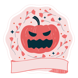 Insignia de Halloween calabaza