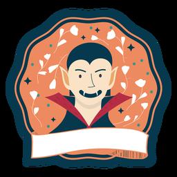 Halloween badge vampire