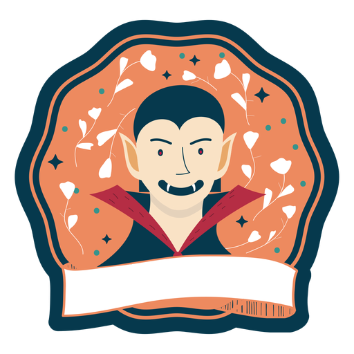 Halloween badge vampire Transparent PNG