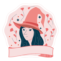 Halloween badge witch