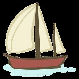Barco desenhado à mão
