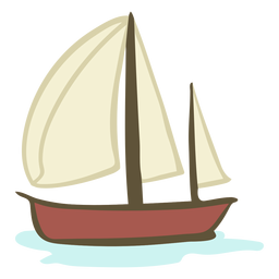 Barco dibujado a mano