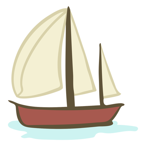 Hand drawn boat Transparent PNG
