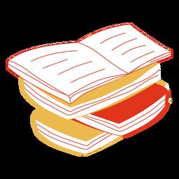 Livros desenhados à mão