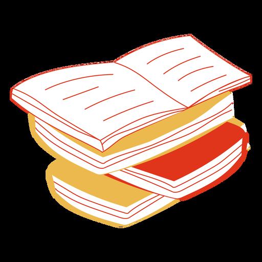 Libros dibujados a mano Transparent PNG