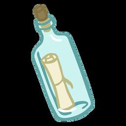 Botella dibujada a mano