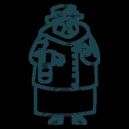 Avó britânica desenhada de mão