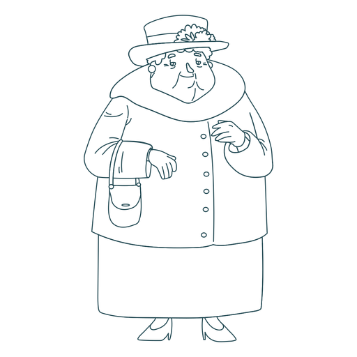 Hand drawn british grandma Transparent PNG