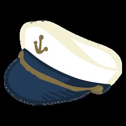 Sombrero de capitanes de sombrero dibujado a mano