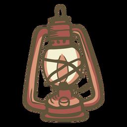 Lámpara dibujada a mano