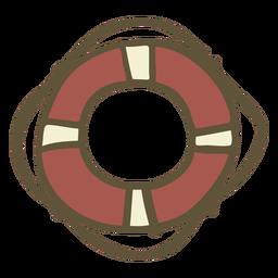 Bóia salva-vidas desenhada de mão