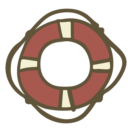 Hand drawn lifebuoy Transparent PNG