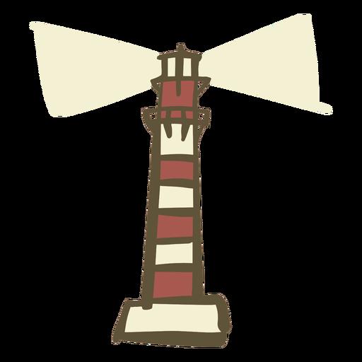 Hand drawn lighthouse Transparent PNG