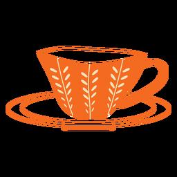 Handgezeichnete orange Tasse