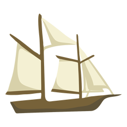 Hand drawn sailboat