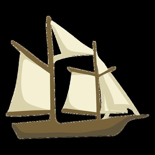 Hand drawn sailboat Transparent PNG