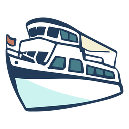 Hand gezeichnetes Schiff