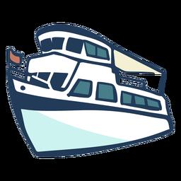 Navio desenhado de mão