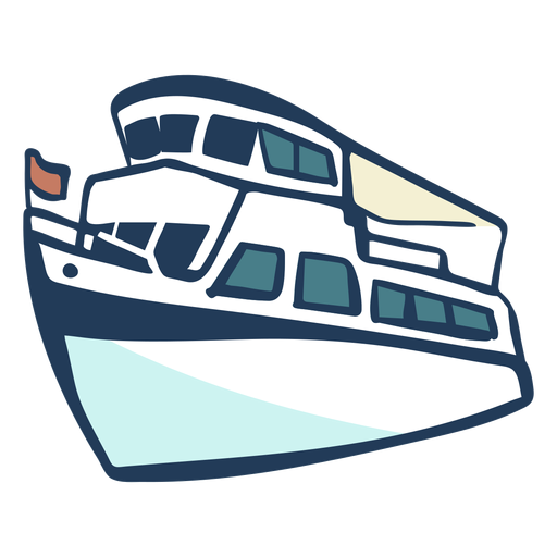 Barco dibujado a mano Transparent PNG