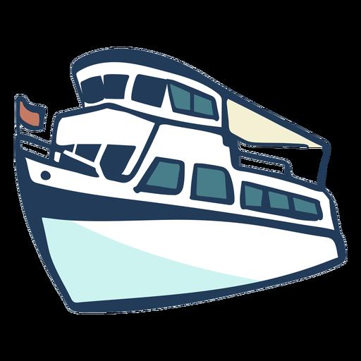 Hand gezeichnetes Schiff Transparent PNG