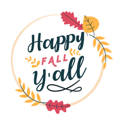 Letras de outono feliz