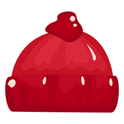 Hat glossy red