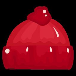 Hut rot glänzend