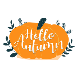 Hello autumn lettering