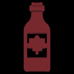 Botella de Canadá icono