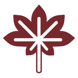 Icono de arce de canadá
