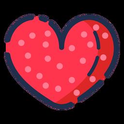 Coração plana de ícone