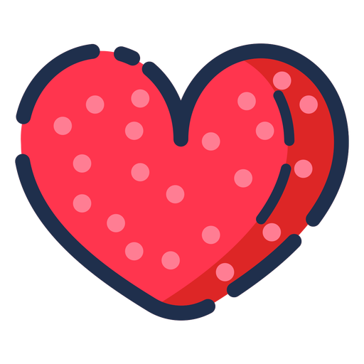 Icon flat heart Transparent PNG