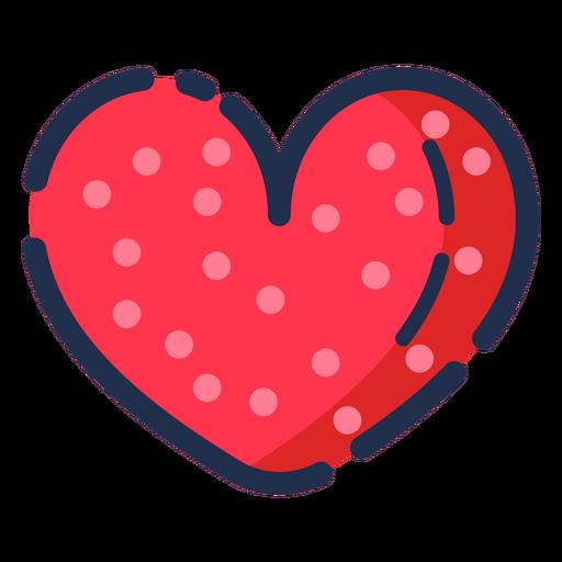 Icono de corazón plano Transparent PNG