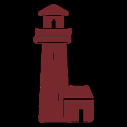 Casa de luz de icono