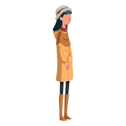 Illustration british girl character
