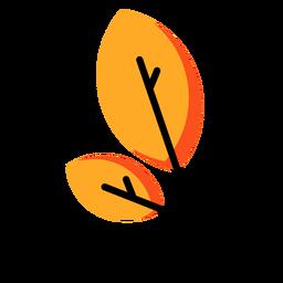 Icono de otoño de hoja