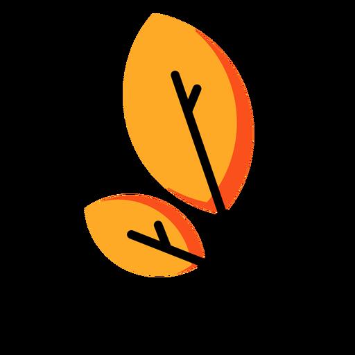 Ícone de folha outono Transparent PNG