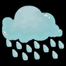 Rain cloud flat