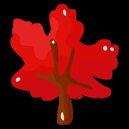 Árbol de otoño rojo