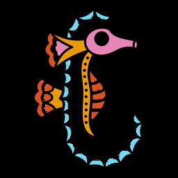 Sea horse oldschool stroke hippocampus tatto