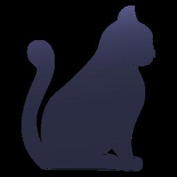 Gato de silhueta gato