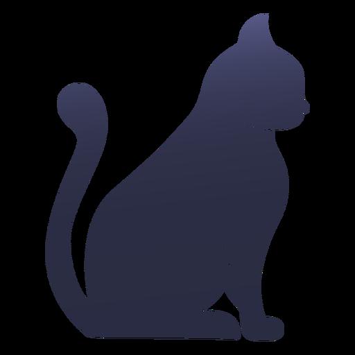 Gato de silhueta gato Transparent PNG