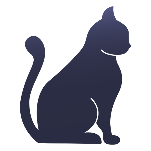 Silhouette cat cat Transparent PNG