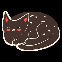 Ilustración de gato durmiente