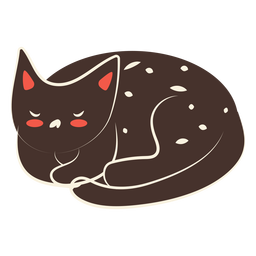 Sleeping cat illustration