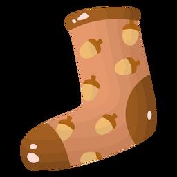 Sock acorns flat