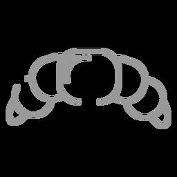 Icono de bagel de trazo