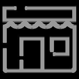 Ícone de loja de padaria de acidente vascular cerebral